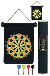 Trademark Games Magnetic Roll-Up Dart Board and Bullseye Game wi