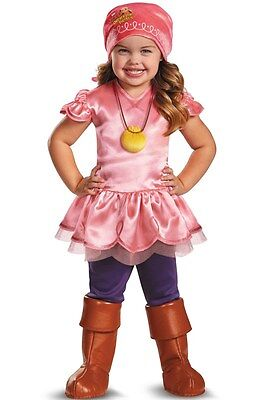 2T PINK PIRATE DISNEY COSTUME Izzy Toddler Girls Child Deluxe Jake Cruise NEW