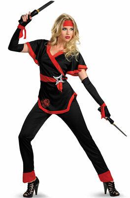 Brand New Ninja Dragon Female Adult Halloween Costume - Female Ninja Halloween Costumes