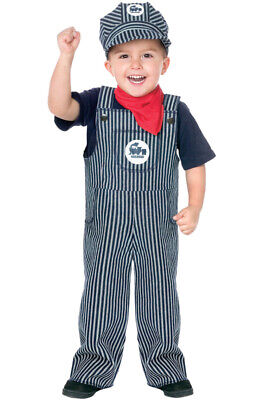Train Engineer Outfit (Brand New Train Conductor Engineer Striped Overalls Boys Outfit Toddler)