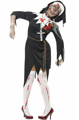 Brand New Zombie Bloody Sister Mary Nun Adult Halloween Costume ()