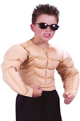 Brand New Muscle Shirt Boys Kids Child Halloween Costume](Make Kids Halloween Costumes)