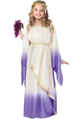 Brand New Greek Goddess Girls Dress Gown Child Costume