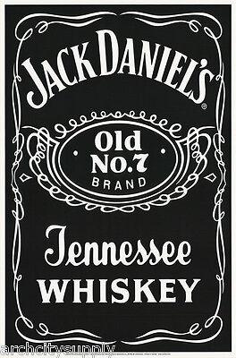 Poster : Beer & Liquor: Jack Daniels - Blacklight - Free Ship 9042s Lp45 T