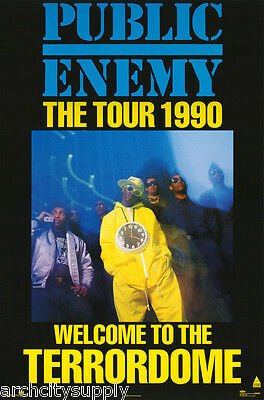 POSTER :MUSIC : RAP : PUBLIC ENEMY - THE TOUR 1990 - FREE SHIP #8095  LW26 E