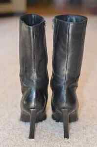 Ladies Black Leather Dress Boot Edmonton Edmonton Area image 4