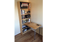 Bookcase with desk