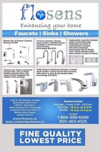 Washroom faucets | Kitchen faucets | Showers | Custom glass