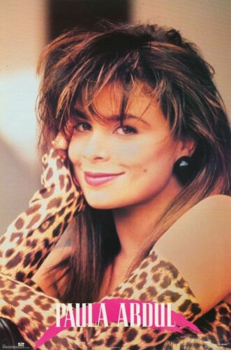 "Vintage 1990 Paula Abdul 22"" x 34"" Poster Sealed #8088"