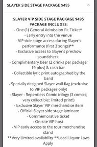 2 VIP Slayer Side Stage Packages