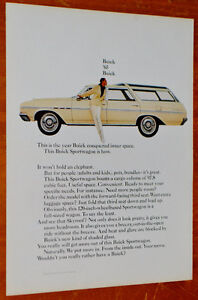 1965 BUICK SPORTWAGON STATION WAGON AD - VINTAGE ANONCE