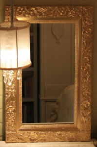 TWO GOLD VINTAGE MIRRORS