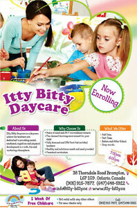 ITTY BITTY DAYCARE- BRAND NEW, LICENSED CPR/FIRST AID TEACHERS