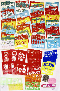 STENCILS, STENCILS - Nearly 100 stencils!  With Carrying Case!