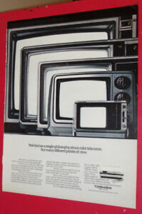 CLEVER 1981 TOSHIBA TELEVISIONS RETRO AD - ANONCE TV
