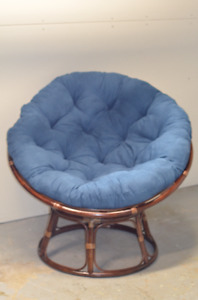 Fauteuil-Chaise individuel design en rotin, rond.