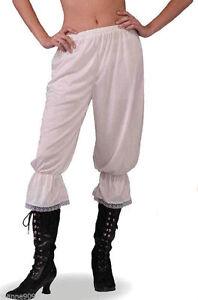 14-16 Ladies Steampunk Victorian cream Pantaloons Bloomers Fancy Dress