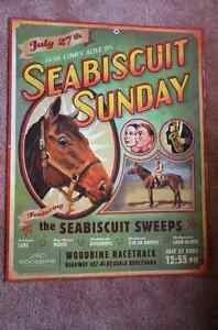 Vintage Style Seabiscuit Sunday Poster Kitchener / Waterloo Kitchener Area image 1
