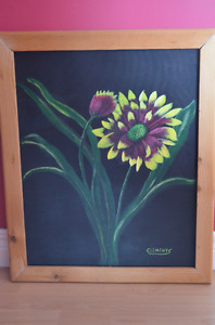 Flower painting by Donna Clements