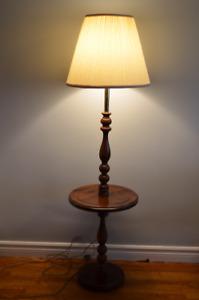Cute Solid Pine Floor Lamp