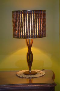 Lampe de table Teck  Vintage Table Teak Lamp