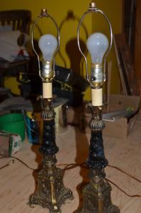 """lampe sur pied vintage (antique), pour table 27 1/2"""" de haut"""