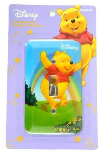 NEW Disney DISNEY WINNIE THE POOH Light Switch Plate Cover BLUE SWITCHPLATE