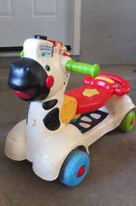 Toddler's Zebra Musical Ride on Toy or Scooter