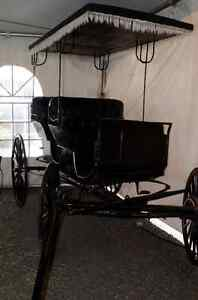 Antique Aimish Horse Surrey Carriage Buggy 100years old For Sale Prince George British Columbia image 5