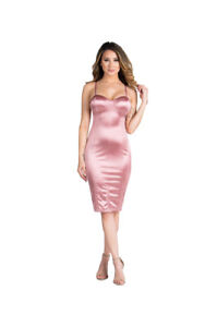 INVENTORY SALE -MUAVE KNIT SATIN MIDI- SIZES SMALL TO LARGE