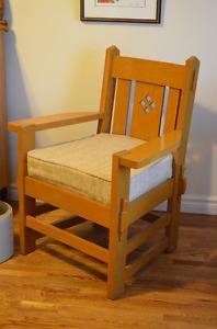 Beautiful Solid Oak Armchair