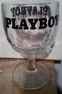 Play--boy drinking glass (goblet) great for mancave