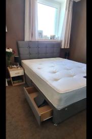 Double Bed Grey Black White