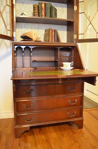 Absolutely Stunning Solid Wood Antique Secretary