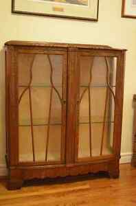 Lovely Solid Wood and Glass China Cabinet