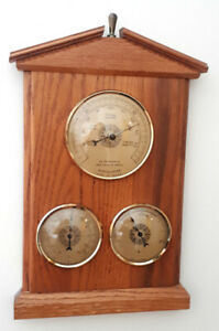 Vintage French Wall Mounted Weather Station & Barometer