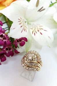 29 Diamond 3 Ring 14K Gold Ring Set!