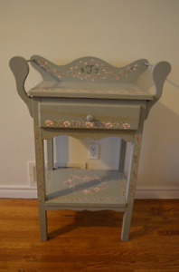 Solid Wood Folk Art Painted Washstand