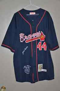 Hank Aaron Cooperstown Limited Edition Atlanta Braves MLB Jersey
