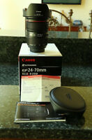 Canon EF 24-70 mm F2.8 II L usm lens with case