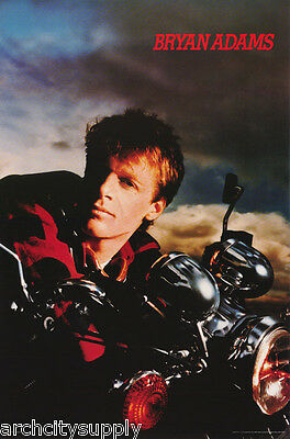 LOT OF 2 POSTERS :MUSIC : BRYAN ADAMS  - ON MOTORCYCLE - FREE SHIP #NMA87 LW11 G