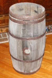 Vintage Antique Wood Barrel