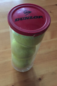 Three (3) WILSON TENNIS BALLS in cannister
