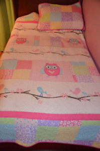 Single/Twin  quilt with pillow sham