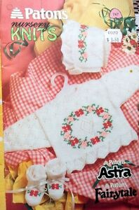 Patons Nursery Baby Knit's booklet #747 6mo to 2yrs