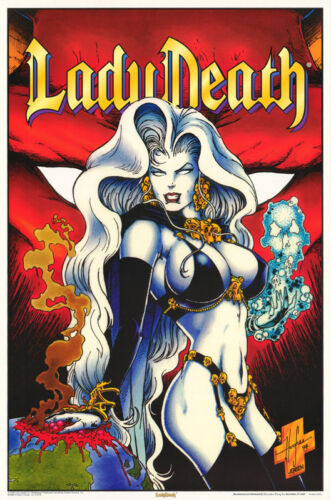 POSTER :FANTASY :  LADY DEATH - RED BACKGROUND  - FREE SHIP !    #3169    LP59 i