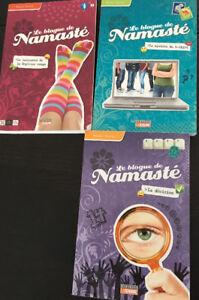 Livres jeunesse Namasté (tomes 1,3,5)