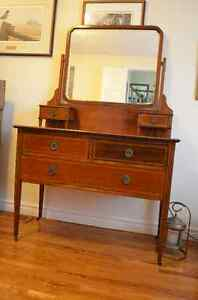 Beautiful Antique Dresser with Inlay Detailing