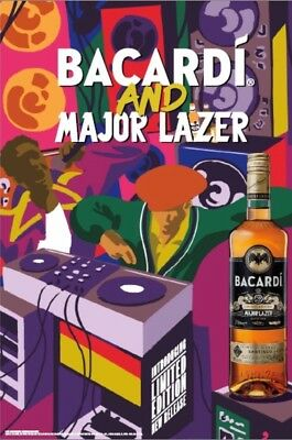 Major Lazer /Bacardi  Party Poster 24 By 36