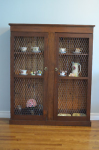Gorgeous antique solid wood jam cupboard